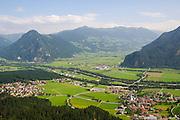Austria, Tyrol, Zillertal Inn river valley