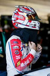 November 2, 2018 - Fort Worth, TX, U.S. - FORT WORTH, TX - NOVEMBER 02: Monster Energy NASCAR Cup Series driver Kevin Harvick (4) puts his helmet on before practice for the AAA Texas 500 on November 02, 2018 at the Texas Motor Speedway in Fort Worth, Texas. (Photo by Matthew Pearce/Icon Sportswire) (Credit Image: © Matthew Pearce/Icon SMI via ZUMA Press)