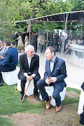 MICHAEL WHITE; ANTONY HADEN-GUEST, 2009 Serpentine Gallery Summer party. Sponsored by Canvas TV. Serpentine Gallery Pavilion designed by Kazuyo Sejima and Ryue Nishizawa of SANAA. Kensington Gdns. London. 9 July 2009.