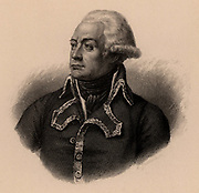Charles Francois Dumouriez (1739-1823) French soldier. Served in the French Revolutionary Wars.  His belief in a constitutional monarchy aroused the suspicions of the Revolutionaries and he was summoned to Paris.  In fear of his life he surrendered himself to France's enemies and finally settled in England.  French Revolution. Engraving 1895.