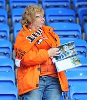 A Blackpool fan at full time<br /> <br /> Photographer Kevin Barnes/CameraSport<br /> <br /> Football - The Football League Sky Bet Championship - Reading v Blackpool - Saturday 25th October 2014 - Madejski Stadium - Reading <br /> <br /> © CameraSport - 43 Linden Ave. Countesthorpe. Leicester. England. LE8 5PG - Tel: +44 (0) 116 277 4147 - admin@camerasport.com - www.camerasport.com