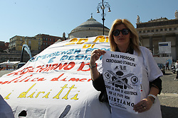 Protest of OSS workers in Naples, (OPERATORI SOCIO SANITARI-health and social workers) employed in health care services Italy, 22 March 2019  (Credit Image: © Esposito Salvatore/Soevermedia via ZUMA Press)