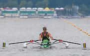 Poznan, POLAND, 21st June 2019, Friday, Morning Heats, AUS PR M1X, Erik HORRIE,   FISA World Rowing Cup II, Malta Lake Course, © Peter SPURRIER/Intersport Images,<br /> <br /> 09:00:13