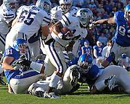 &#xA;Kansas State running back Leon Patton (14) rushes the ball up field against Kansas at Memorial Stadium in Lawrence, Kansas, November 18, 2006.  Kansas beat K-State 39-20.<br />