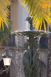 Three graces fountain Placa Reial Plaza Real water