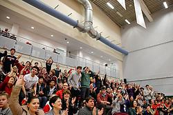 The crowd celebrate - Photo mandatory by-line: Rogan Thomson/JMP - 07966 386802 - 13/02/2015 - SPORT - BASKETBALL - Bristol, England - SGS Wise Arena - Bristol Flyers v Surrey United - BBL Championship.