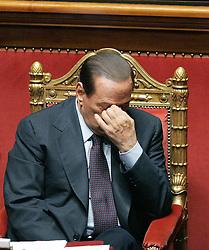 30.09.2010, Senat, Rom, ITA, Der italienische Regierungschef Silvio Berlusconi entscheidet auch die zweite Vertrauensabstimmung innerhalb von 24 Stunden für sich. Im Bild Silvio BERLUSCONI.Senato - Voto di Fiducia, dichiarazioni del Presidente del Consiglio sulla crisi... EXPA Pictures © 2010, PhotoCredit: EXPA/ InsideFoto/ Serena Cremaschi +++++ ATTENTION - FOR AUSTRIA AND SLOVENIA CLIENT ONLY +++++. .