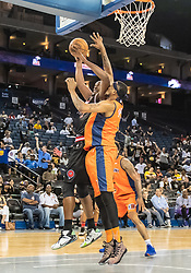 July 6, 2018 - Oakland, CA, U.S. - OAKLAND, CA - JULY 06: Rashad McCants (32) co-captain of Trilogy goes up against Jason Maxiell (54) of 3's Company during game 1 in week three of the BIG3 3-on-3 basketball league on Friday, July 6, 2018 at the Oracle Arena in Oakland, CA (Photo by Douglas Stringer/Icon Sportswire) (Credit Image: © Douglas Stringer/Icon SMI via ZUMA Press)