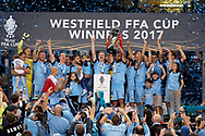 SYDNEY, NSW- NOVEMBER 21: Sydney FC celebrate at the FFA Cup Final Soccer between Sydney FC and Adelaide United on November 21, 2017 at Allianz Stadium, Sydney. (Photo by Steven Markham/Icon Sportswire)