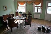 Saint Petersburg, Russia, 24/07/2005..Alexander Pushkin's study in his country dacha in the city suburb of Tsarskoe Selo/Pushkin.