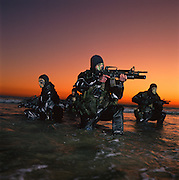 Navy Seals conduct excercises near Camp Pendleton, California.