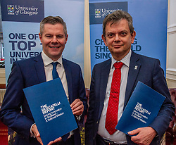 Pictured: Professor Sir Anton Muscatelli and Finance Secretary Derek Mackay<br /><br />Professor Sir Anton Muscatelli was joined by Finance Secretary Derek Mackay as he launched his report on how Scotland's higher education sector can maximise its impact on economic growth. Commissioned by Mr Mackay, the report will make recommendations for the sector, industry, the Scottish Government and its agencies<br /><br /> Ger Harley   EEm 27 November 2019