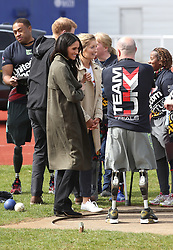 Ms Meghan Markle  attends the UK Team Invictus Games trials held at Bath University Sports training village in Somerset. Prince Harry and Ms Meghan Markle joined wounded, injured and sick military personnel and veterans who are trying out for a place on the UK team at the Invictus Games Sydney 2018 <br />Photo credit should read Chris Radburn/EMPICS Entertainment