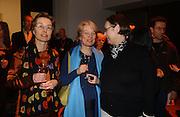 Suzanne Kippenberger, Sabine Kippenberger and Bettina Kippenberg. Martin Kippenberger, Tate Modern. 7 Febriuary 2006. -DO NOT ARCHIVE-© Copyright Photograph by Dafydd Jones 66 Stockwell Park Rd. London SW9 0DA Tel 020 7733 0108 www.dafjones.com