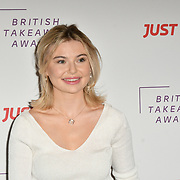 Georgia Toffolo attends the British Takeaway Awards, in association with Just Eat at London's Savoy Hotel on 12 November 2018, London, UK.