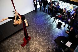 Dana Augustin, Aerial Circus, Podjetniski zajtrk skupine BNI Mostovi, on January 8, 2020 in NIX, Trzin, Slovenia. Photo by Vid Ponikvar / Sportida