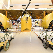 The Caudron G.4 on display at the Smithsonian Air and Space Museum's Udvar-Hazy Center in Chantilly, Virginia, just outside Washington DC. Designed and built by the French as a light bomber and reconnaissance aircraft, the Caudron G.4 was used extensively in World War I. on display at the Smithsonian National Air and Space Museum's Udvar-Hazy Center, a large hangar facility at Chantilly, Virginia, next to Dulles Airport and just outside Washington DC.