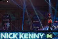 Nick Kenny (Wales), walk-on, during the William Hill World Darts Championship at Alexandra Palace, London, United Kingdom on 20 December 2020.