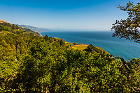 View of the coastline from Big Sur, Monterey County, California USA.