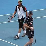 Lleyton Hewitt during a charity event with Australian Rugby Captain Stirling Mortlock at the Medibank International Sydney Tennis Tournament on January 11, 2009 in Sydney, Australia. Photo Tim Clayton