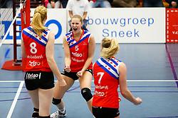 20150425 NED: Eredivisie VC Sneek - Eurosped, Sneek<br />Nynke Oud (5) of VC Sneek<br />©2015-FotoHoogendoorn.nl / Pim Waslander