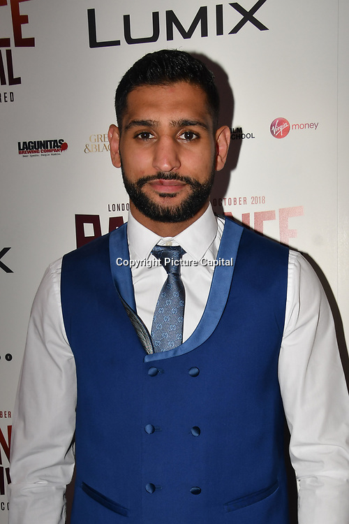 British Asain Boxer Smir Khan attend World Premiere of Team Khan - Raindance Film Festival 2018 at Vue Cinemas - Piccadilly, London, UK. 29 September 2018.
