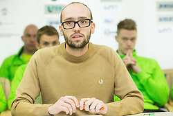 Luka Steiner during press conference of Slovenian Team for European Indoor Athletics Championships Prague 2015, on March 4, 2015 in Ljubljana, Slovenia. Photo by Vid Ponikvar / Sportida