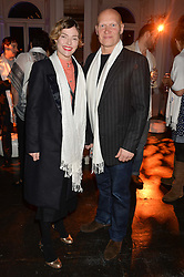 CAMILLA RUTHERFORD and DOMINIC BURNS at White by Agadir hosted by the Moroccan National Tourist Office to celebrate the White City in Morocco in the presence of H.H.Princess Lalla Joumala, Ambassador of HM The King of Morocco held at Il Bottaccio, 9 Grosvenor Place, London on 4th November 2014.