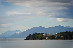The Alaska Fisheries Science Center's Auke Bay Laboratories located at Lena Point in Juneau, Alaska conducts scientific research throughout Alaska on fish stocks, fish habitats, and the chemistry of marine environments. This research is used by fishing industries and governmental agencies involved in managing natural resources. The headquarters of the Auke Bay Laboratories is the Ted Stevens Marine Research Institute (TSMRI).