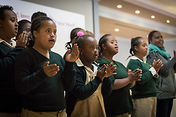 24 October 2019, Addis Ababa, Ethiopia: Performance by the Gudina Tumsin children's choir. The Gudina Tumsin school currently teaches some 400 children with special needs. Gathered in Addis Ababa from 23-27 October 2019, Lutherans from across the globe join in consultation under the theme of 'We believe in the Holy Spirit: Global Perspectives on Lutheran Identities'. Hosted by the Ethiopian Evangelical Church Mekane Yesus, the consultation is the first phase of a study process on Lutheran identities.