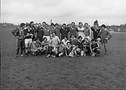 Irish Rugby Team.   (M73)..1979..11.05.1979..05.11.1979..11th May 1979..Prior to going on a tour to Australia, the Irish International Rugby Team had a light training session at the training ground in Lansdowne Road, Dublin..The Irish Rugby take time from their training to pose for pictures from the waiting media.