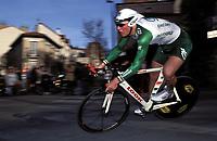 Sykkel. Paris - Nice 2002. 10.03.2002.<br /> Thor Hushovd fra Norge.<br /> Foto: Franck Faugere, Digitalsport