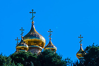 Russian Orthodox Church of Maria Magdelene, Mount of Olives, Jerusalem, Israel.