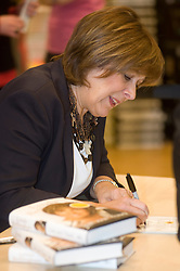 "Lynda Bellingham of TV Show ""Loose Women"" currently appearing in the stage show of Calendar Girls, signs copies of her autobiography ""Lost And Found"" at WH Smiths Meadowhall Sheffield.Linda is also set to return to her role as the OXO mum more than 10 years after the adverts were dropped Friday 16 April 2010. .Images © Paul David Drabble."