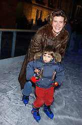 ANNA GOULANDRIS and her son ALECO GOULANDRIS at the opening of the Natural History Museum's Ice Rink on 16th November 2005.<br />