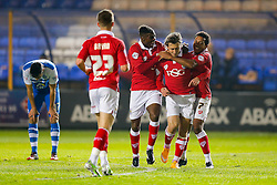 Luke Freeman of Bristol City celebrates scoring a goal to make it 0-1 - Photo mandatory by-line: Rogan Thomson/JMP - 07966 386802 - 28/11/2014 - SPORT - FOOTBALL - Peterborough, England - ABAX Stadium - Peterborough United v Bristol City - Sky Bet League 1.