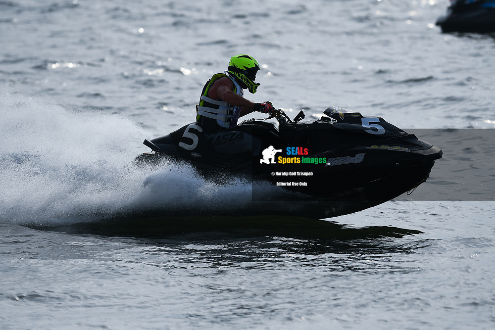 PATTAYA, THAILAND - DECEMBER 09: Gyorgy Kasza (5) of Hungary and Kasza Racing in action during the Pro Runabout 1100 Open Moto4 at the Thai Airways International Jet Ski World Cup 2018, Jomtien Beach, Pattaya, Thailand on December 09, 2018. <br /> .<br /> .<br /> .<br /> (Photo by: Naratip Golf Srisupab/SEALs Sports Images)<br /> .<br /> Any image use must include a mandatory credit line adjacent to the content which should read: Naratip Golf Srisupab/SEALs Sports Images