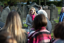 © Licensed to London News Pictures . 30/10/2018. Accrington , UK . The actress KATE WINSLET arrives at the funeral in the cortege . The funeral of Gemma Nuttall at Accrington Crematorium . Gemma died of cancer despite initially seeing off the disease after radical immunotherapy treatment in Germany , paid for with the fundraising support of actress Kate Winslet , who read of Gemma's plight on a crowdfunding website shortly after she lost her own mother to cancer . Permission to photograph given by Gemma's mother , Helen Sproates . Photo credit : Joel Goodman/LNP