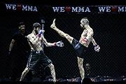 Kampfsport: MMA, We love MMA, Oberhausen, 31.01.2015<br /> Magomed Shakbiev (Fightteam Dresden, l.) - Arthur Gloeckler (RFS Team Saarbruecken)<br /> © Torsten Helmke
