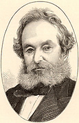 Francis Petit Smith (1808-1874) English inventor from Kent.  The first man successfully to apply the screw propeller to steam ships.  In 1839 the 237-ton 'Archimedes' achieved 10 knots.  Engraving from 'The Science Record' (New York, 1872).