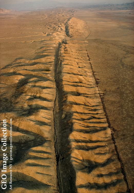 San Andreas Fault slices Carrizo Plain 100 miles north of Los Angeles.
