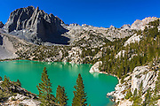 Second Lake and Temple Crag, John Muir Wilderness, California USA
