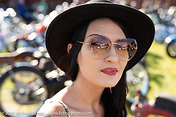 Kissa Von Adams at the Sportster Showdown Bike Show presented by Led Sled and Biltwell at the Buffalo Chip during the 78th annual Sturgis Motorcycle Rally. Sturgis, SD. USA. Tuesday August 7, 2018. Photography ©2018 Michael Lichter.