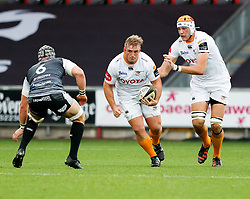 Luan de Bruin of Cheetahs on the charge<br /> <br /> Photographer Simon King/Replay Images<br /> <br /> Guinness PRO14 Round 2 - Ospreys v Cheetahs - Saturday 8th September 2018 - Liberty Stadium - Swansea<br /> <br /> World Copyright © Replay Images . All rights reserved. info@replayimages.co.uk - http://replayimages.co.uk