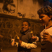 Young Fluminense fans make their way home after the Fluminense V Atletico MG, Futebol Brasileirao  League match at Estadio Olímpico Joao Havelange, Rio de Janeiro. Fluminense won the match 5-1. Rio de Janeiro,  Brazil. 23rd September 2010. Photo Tim Clayton