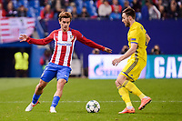 Atletico de Madrid's player Antoine Griezmann and CF Rostov's player during a match of UEFA Champions League at Vicente Calderon Stadium in Madrid. November 01, Spain. 2016. (ALTERPHOTOS/BorjaB.Hojas)