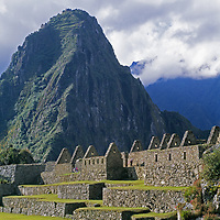 Mysterious Inca structures spread below Mount Huayna Picchu