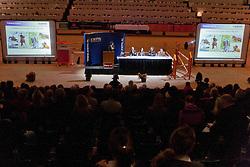 Daniëlle Arts, Johan Knaap, Ilse van Grevenhof, Rob Krabbenborg, Hans van Tartwijk<br /> KWPN Hengstenkeuring - 's Hertogenbosch 2012<br /> © Dirk Caremans