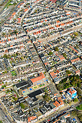 Nederland, Noord-Holland, Alkmaar, 20-04-2015; Spoorbuurt, tussen station en binnenstad.<br /> Station quarter, Alkmaar inner city.<br /> luchtfoto (toeslag op standard tarieven);<br /> aerial photo (additional fee required);<br /> copyright foto/photo Siebe Swart