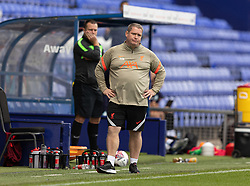 BIRKENHEAD, ENGLAND - Sunday, August 29, 2021: Liverpool manager Matt Beard during the FA Women's Championship game between Liverpool FC Women and London City Lionesses FC at Prenton Park. London City won 1-0. (Pic by Paul Currie/Propaganda)